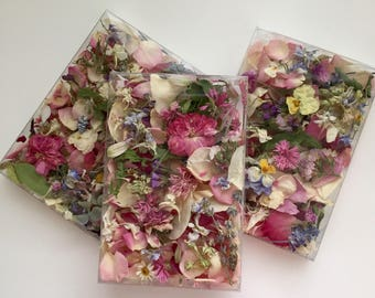 Dried Flowers, Wedding Confetti, Craft Supply, Table Decor, Lavender, Flower Girl, Real Rose Petals, Favors, Biodegradable, 3 Boxes or Bags