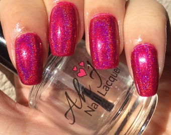 Cyber Pink Linear Holographic Polish