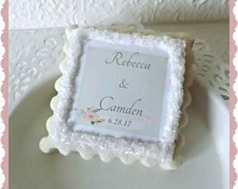 Wedding Thank You Gift- Bride and Groom Sugar Cookie Favors 1 Dozen