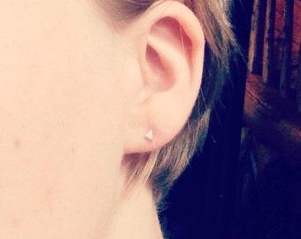 Charlotte Earrings, Stud Earrings, Mini Stud Earrings, Tiny Stud Earrings, Mini Studs, Tiny Studs, Silver Studs, Modern Studs, Gifts