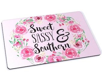 Sweet Sassy Southern Mousepad - 7.75 x 9.25