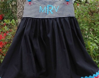 Personalized Party  Dress, sizes 12 mo.-3T