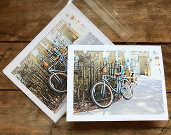 Savannah Georgia Historic District Factor's Square Bicycle Photograph Set of 6 Note Cards with Envelopes