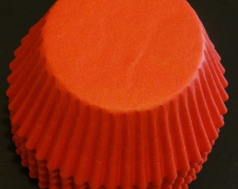 FREE SHIP! in USA Red Baking Cups Approximately 100 Cups.