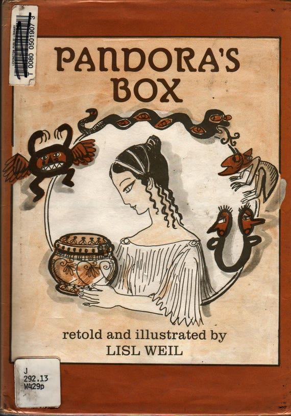 Pandora's Box + Lisl Weil + 1986 + Vintage Kids Book