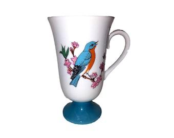 Japan Pedestal Fred Roberts Bluebird Coffee Tea Cup Mug