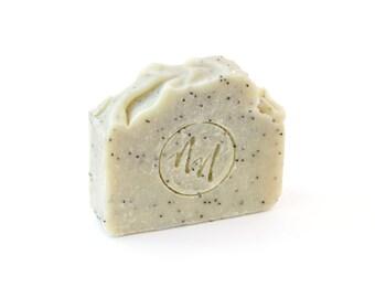 Mint + Poppy Seed ~ Shea Butter Soap