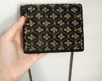 Black/Gold Art Deco Antique Purse from the 1920s