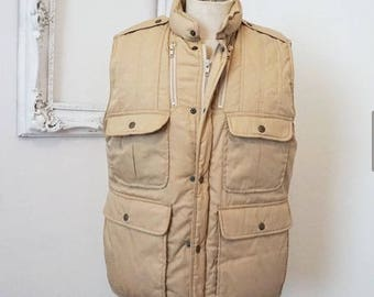 Field and Stream Vintage Insulated Down Hunting Fishing Vest Men Sz Large