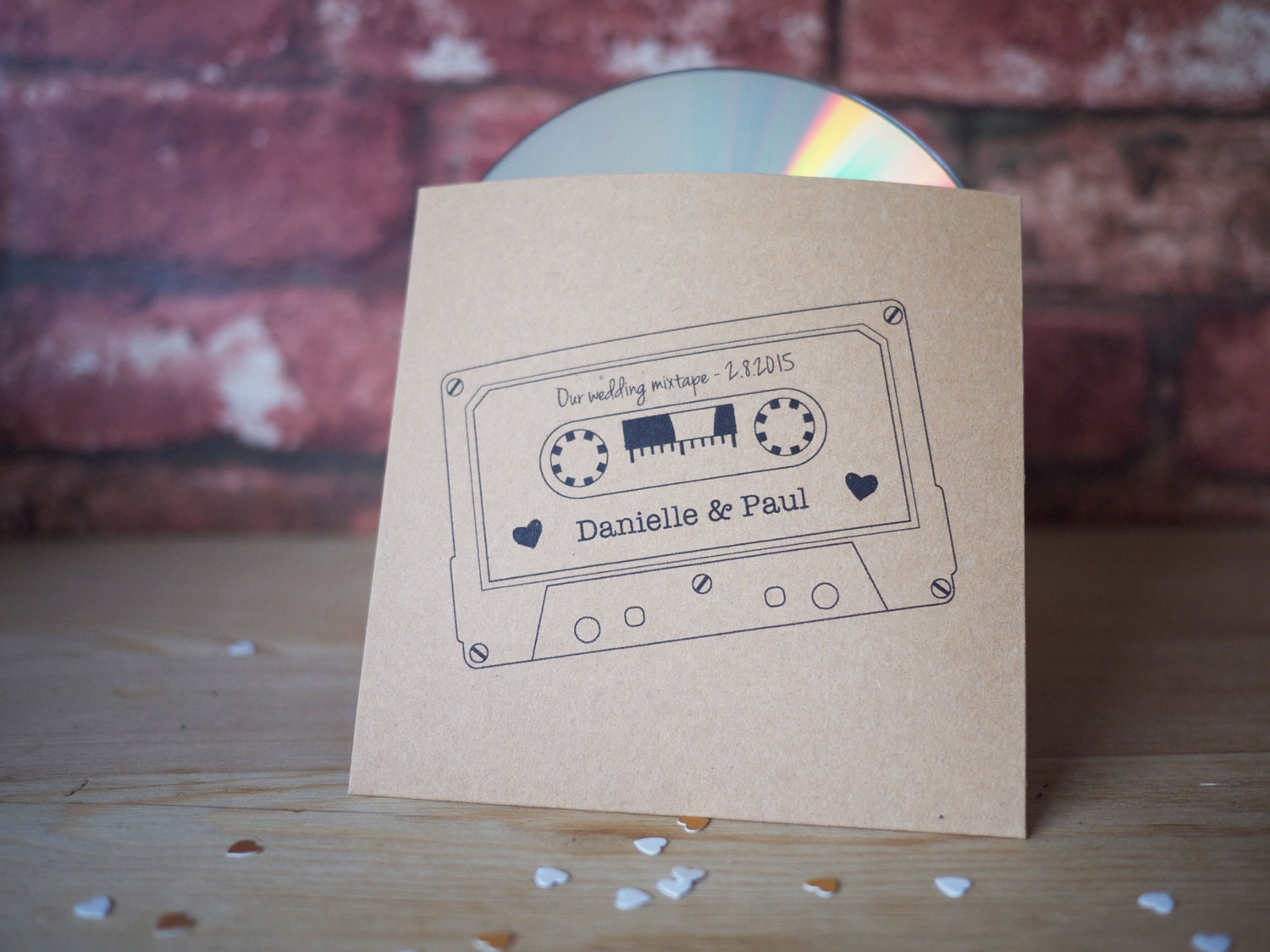 10x personalised mixtape style CD cover / sleeve wedding