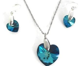 Swarovski Heart Crystal Set