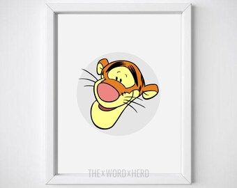Tigger Winnie The Pooh Nursery Printable Wall Art