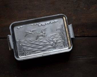 Vintage Pressed Aluminum Bill Tray