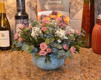 Dried Flower arrangement, Flower arrangement, Pink flower arrangement, Pink arrangement