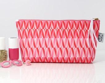 Makeup bag funny, Zipper Cosmetic bag, Pink makeup bag cosmetic purse.