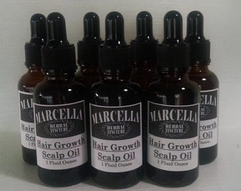 Hair Growth Scalp Oil Treatment, Natural, Herbal, Organic, Vegan, pH Balanced, Restores Activates Stimulates Dormant Follicles