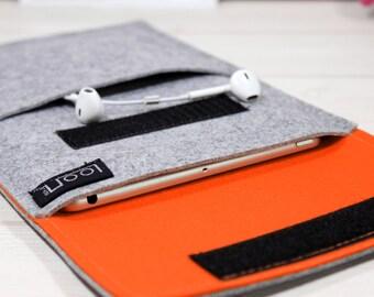 Google Pixel C case, felt iPad sleeve, iPad Air 2 case, iPad Pro sleeve, iPad Air sleeve, iPad case, iPad Pro case, gray tablet case, gift