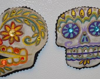 Sugar Skull Magnets, Calavera Magnets, Dia de los Muertos Magnets