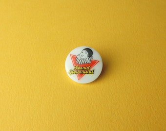 Vintage Pierrot Gourmand lollipop candy candy porcelain 90s Pin badges