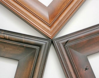 Sizes 12x16 to 16x20 Picture Frame / Knotty Alder Wood / Cottage Style