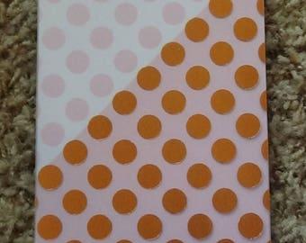 Polka dot spiral notepad, blank notepad, spiral