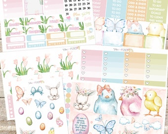 SPRING is in THE AIR Planner Stickers Individual Sheets sized for the Erin Condren Life Planner