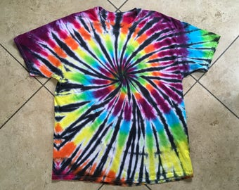 Tie dye rainbow spiral size extra large