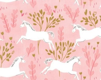 Pink Unicorn Fabric from designer Michael Miller