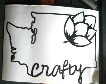 Crafty Washington Decal