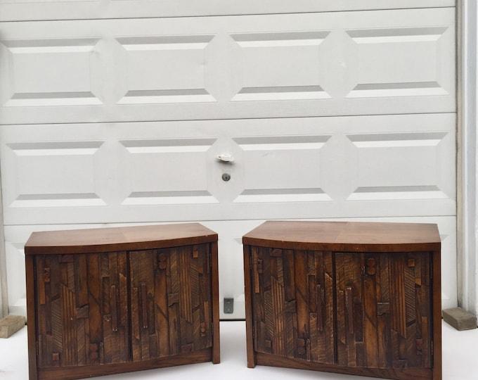 Pair Mid-Century Nightstands by Lane