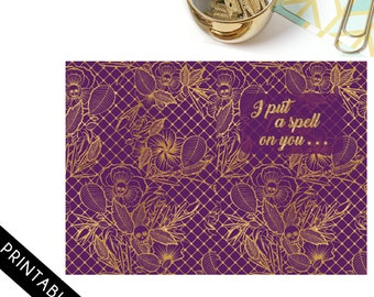I put a spell on you- Personal Travelers Notebook (TN) Dashboard, Pocket Folder, Notebook Cover