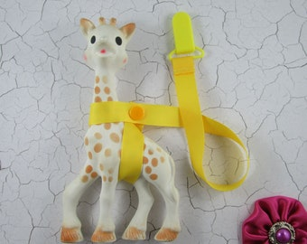 Sophie the Giraffe Leash/Toy Saver - Blues/Greens