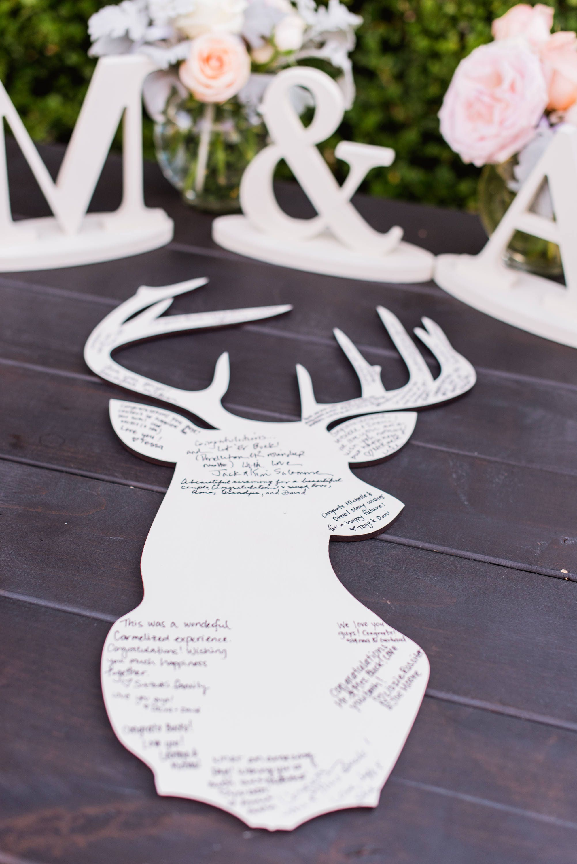 Wedding Guest Book Deer Silhouette DIY or Painted Guestbook