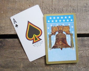 Vintage Liberty Bell Playing Card Deck - Full Deck