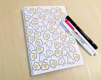 A5 Ghosts and Eggs Bullet Journal Notebook