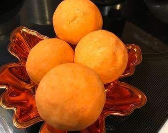 Orange ginger/ oatmeal bath bombs