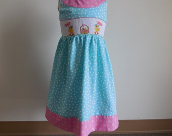 Little Threads Duckies hand smocked dress size 4t