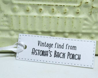 Vintage Tags -  Set of 20 - Personalized - Store tags - Hang tags