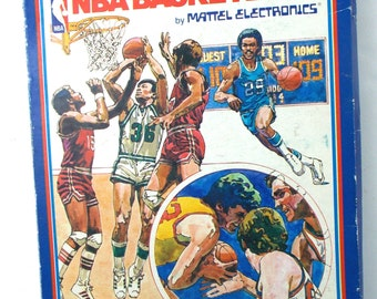Intellivision NBA Basketball Mattel Electronics Video Game CIB Complete