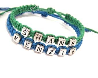 Matching Couples Bracelets, Couple Bracelets, Custom Bracelet, Personalized Name Bracelet, Couples Gift, Personalized Jewelry boyfriend gift