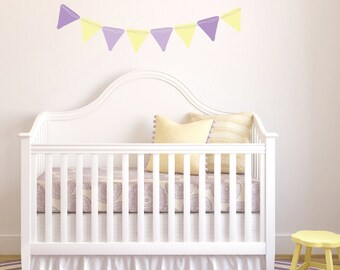 Bunting Wall Decals - Banner Fabric Wall Decals