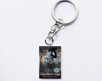 Clockwork Angel mini book keychain