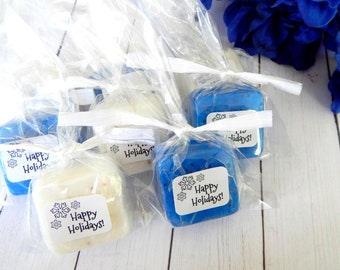 Mini Soap Happy Holidays Stocking Stuffer for Kids Small Christmas Gift Under 10 For Women For Men For Teens Merry Christmas Affordable Gift