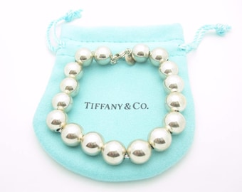 """Tiffany & Co. Sterling Silver Bead Ball Bracelet 7 1/2"""""""