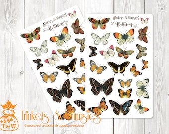 Fluttering Colorful Butterfly Planner Stickers