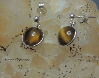 925 sterling silver with Tiger eye earrings