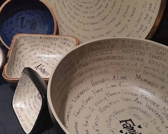 Personalized Large Bowls Handwritten custom order,Gift to Boyfriend,Gift for Men,Gift for Women,Gift for Her,Gift for Him,Gift for girl