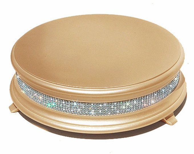 14 inch Gold Diamond Bling Wedding Cake Stand