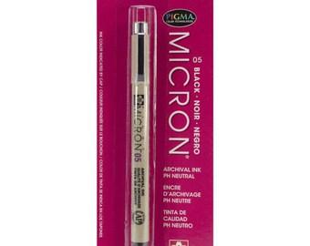 Pigma Micron Pen 05 .45mm/Archival Ink/Scrapbook/Black/Wedding Guest Book Signing