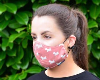 MASKERAID® Scottie Dogs Reusable Cotton Face Mask